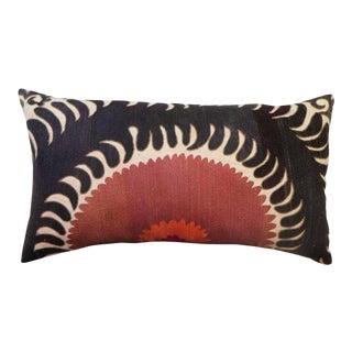 Vintage Oversize Samarkand Embroidered Pillow For Sale