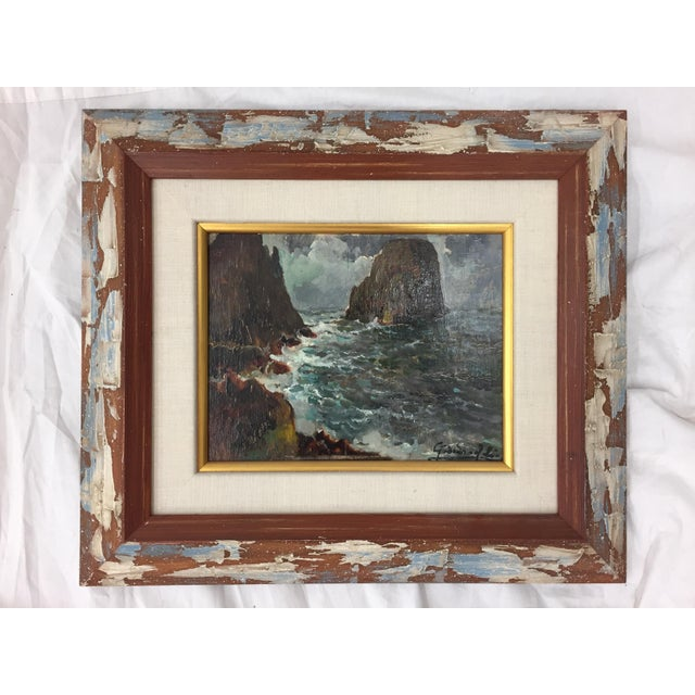 Framed & Signed Seascape Oil Painting - Image 5 of 10