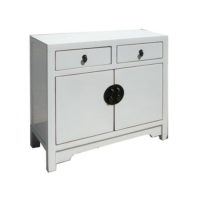 Slim & Narrow White Side Table/Console/Cabinet - Image 1 of 5