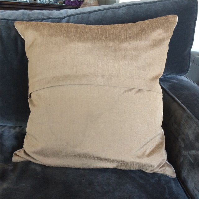 Embriordered Linen Geometric Pillow - Image 5 of 5