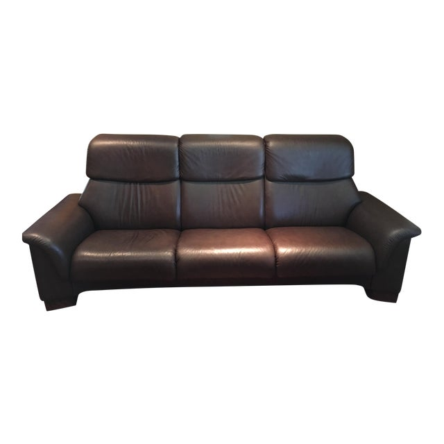 Ekornes Stressless Paradise High Back Leather Sofa