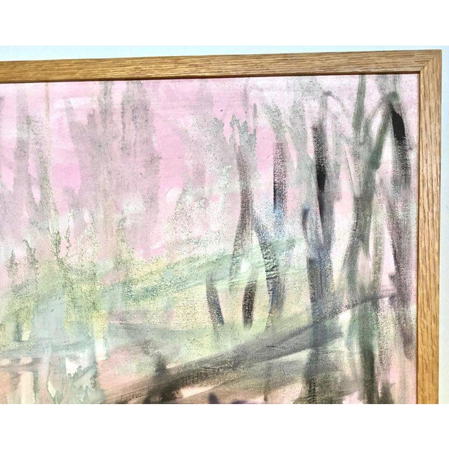 Large Scale Abstract Painting, Custom Wood Frame For Sale - Image 10 of 12