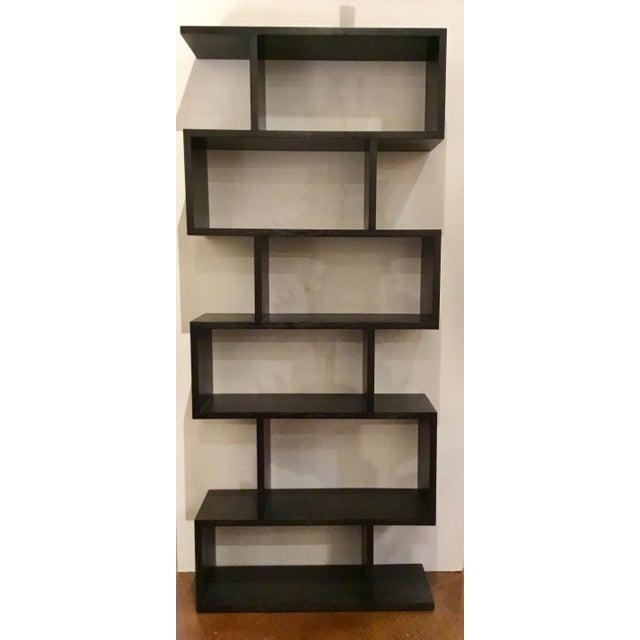 2010s Arteriors Modern Horner Sable Brown Finished Wood Bookshelf For Sale - Image 5 of 5