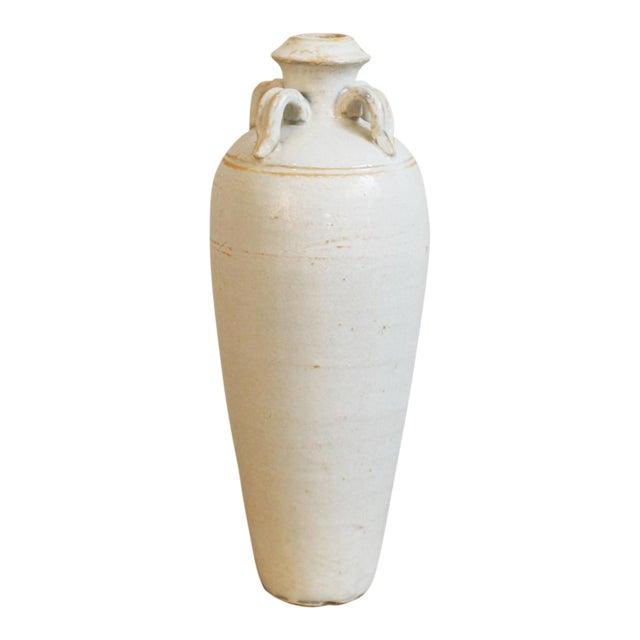 White Milk Ceramic Pottery Vase For Sale