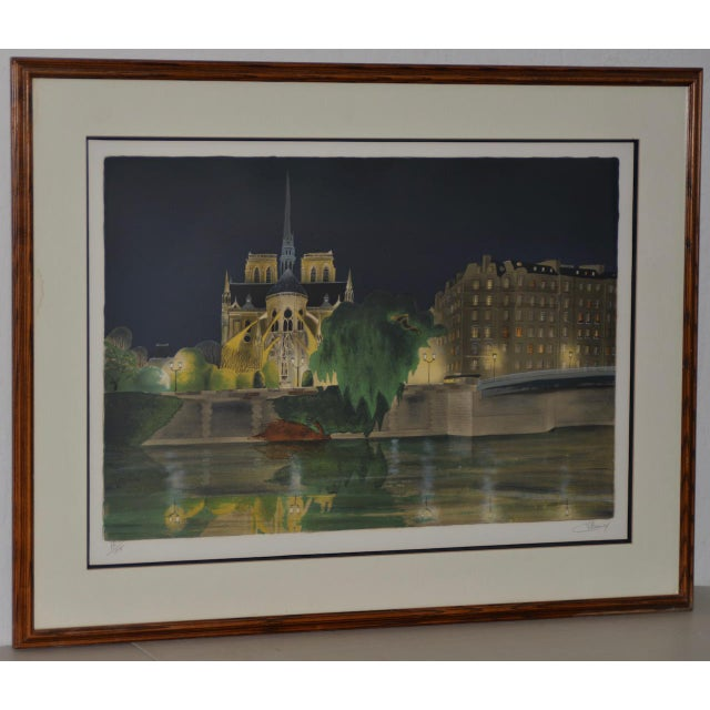 "Vintage ""Notre-Dame De Paris"" Color Lithograph Signed / Numbered C.2004 For Sale - Image 10 of 10"
