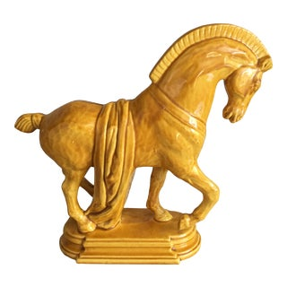 Italian Ceramic Horse Figurine For Sale
