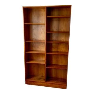 Mid-Century Modern Teak Veneer Bookcase For Sale