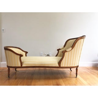 French Hand Carved Walnut Louis XVI Style Duchesse Chaise Lounge Preview