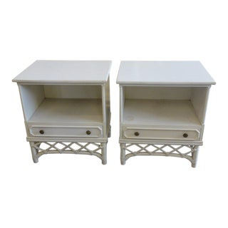 Ficks Reed Faux Bamboo Nightstands - a Pair