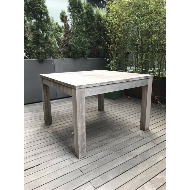 Restoration Hardware Outdoor Dining Table Chairish - Weathered teak outdoor dining table