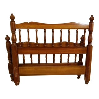Antique Georgetown Galleries Solid Cherry Twin Bedframes - a Pair For Sale