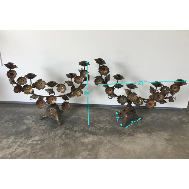 Antique French Gilt Floral Candelabras For Sale In Los Angeles - Image 6 of 7