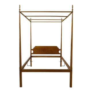 Eldred Wheeler Tiger Maple Full Size Canopy Bed For Sale