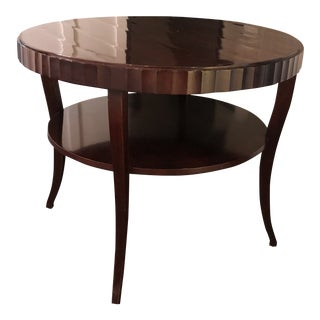 Barbara Barry for Baker Fluted Mahogany Side Table For Sale