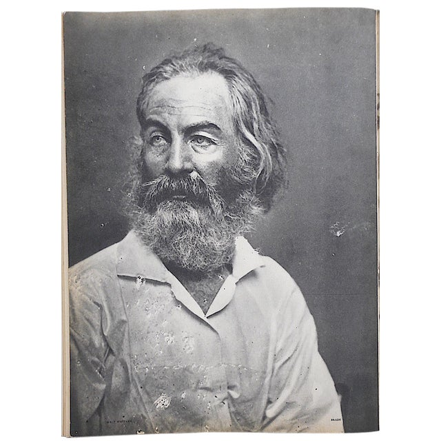 "Vintage Heliogravure Photo by Mathew Brady-""Walt Whitman""-Verve-Paris-1939 For Sale"