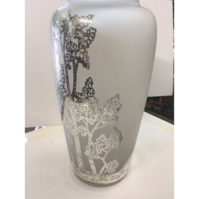 Large Antique Silver Overlay Scenic Vase For Sale In San Francisco - Image 6 of 10