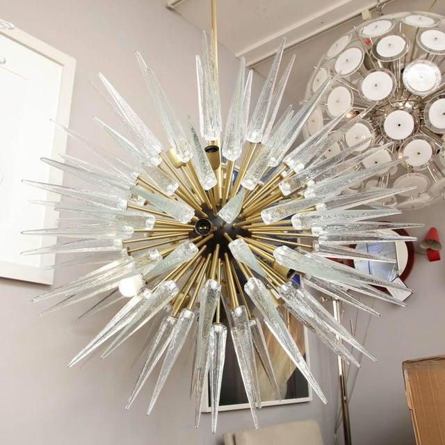 Stunning Murano Glass Spike Sputnik Chandelier For Sale - Image 10 of 10