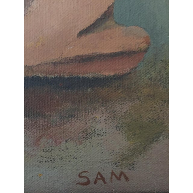 Mid-Century Camel Oil Painting - Image 6 of 7