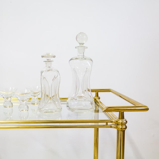 1960s Mid Century Modern Holmegaard Kluk Danish Decanters - A Pair For Sale - Image 5 of 7
