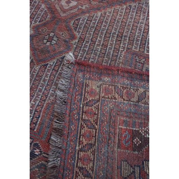 Antique Afghan Rug - 4′3″ × 5′8″ - Image 7 of 7