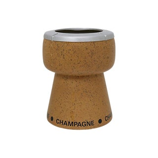 Mid-Century Champagne Cork Ice Bucket For Sale