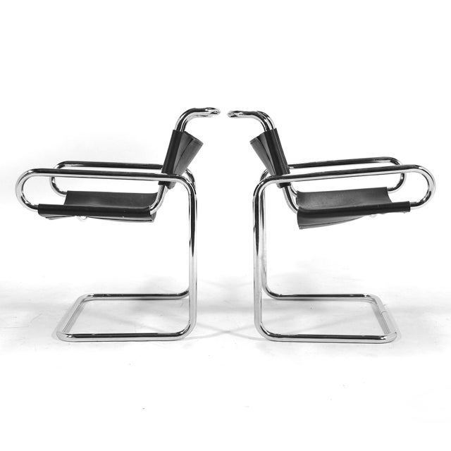 "1970s Ralph Rye Pair of ""RYE""Chairs by Dunbar For Sale - Image 5 of 9"