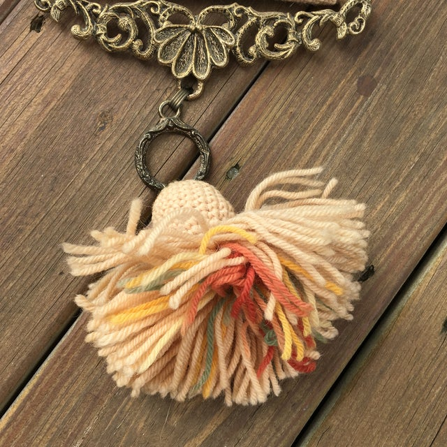 Vintage Embroidered Bird Wall Hanging - Image 7 of 10