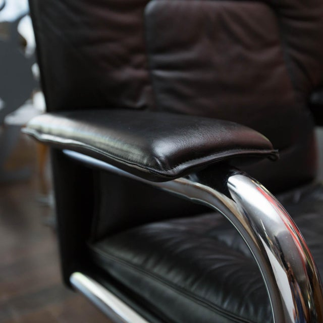 Aluminum Pace Collection Mariani Leather Executive Chair For Sale - Image 7 of 8