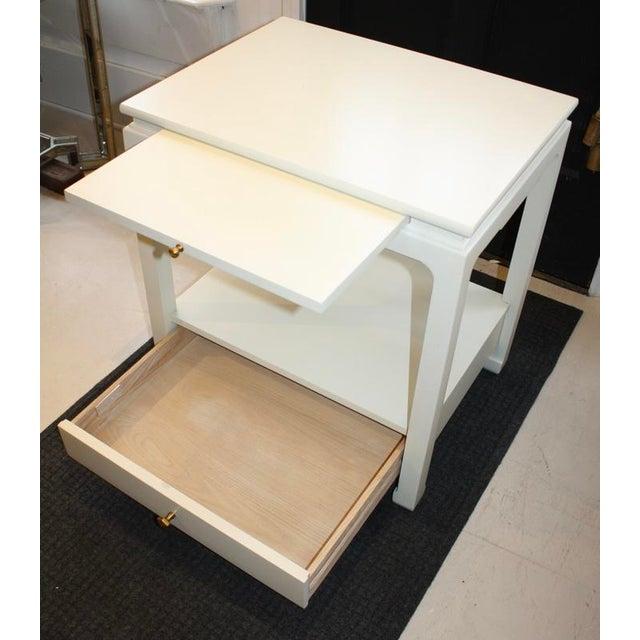 Wood Alexa Hampton Sara Side Table For Sale - Image 7 of 10