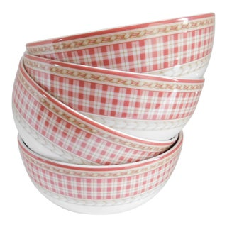 Royal Doulton Studio Vintage Rouge Provence Soup/Pasta Bowls -- Set of 4 For Sale
