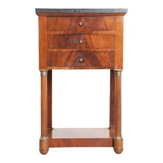 20th Century French Empire Style Mahogany Bedside Table For Sale