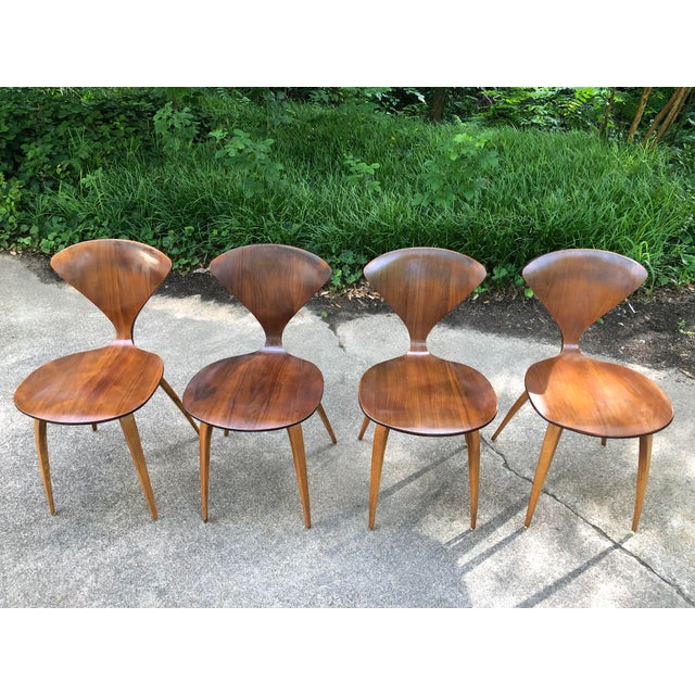 Wood Norman Cherner for Plycraft Chairs - Set of 4 For Sale - Image 7 of 13