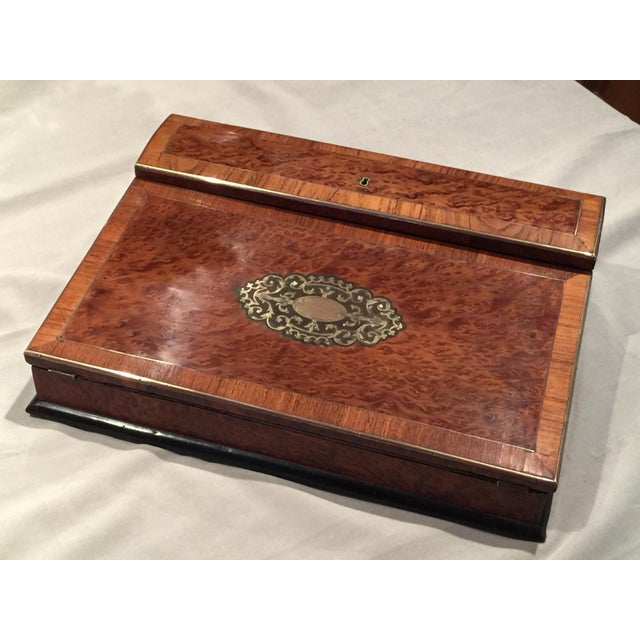 Traditional Antique Lap Desk & Writing Slope For Sale - Image 3 of 11 - Antique Lap Desk & Writing Slope Chairish