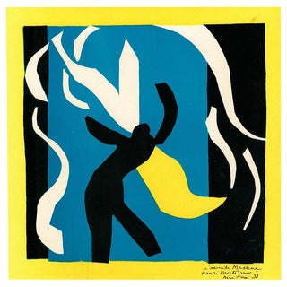 "1939 Original ""Abstraction"" Henri Matisse Lithograph and Serge Lifar Photogravure For Sale"