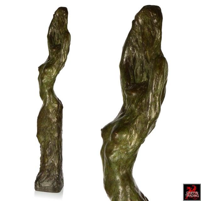 Female Nude Bronze Sculpture by Edouard Vereycken, circa 1925 For Sale - Image 4 of 10