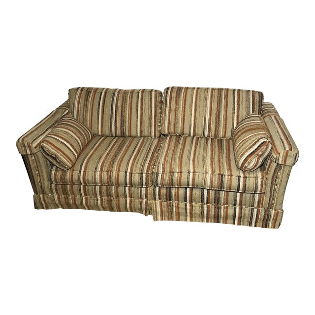 Enjoyable Vintage Karpen Loveseat Sleeper Sofa Couch Creativecarmelina Interior Chair Design Creativecarmelinacom