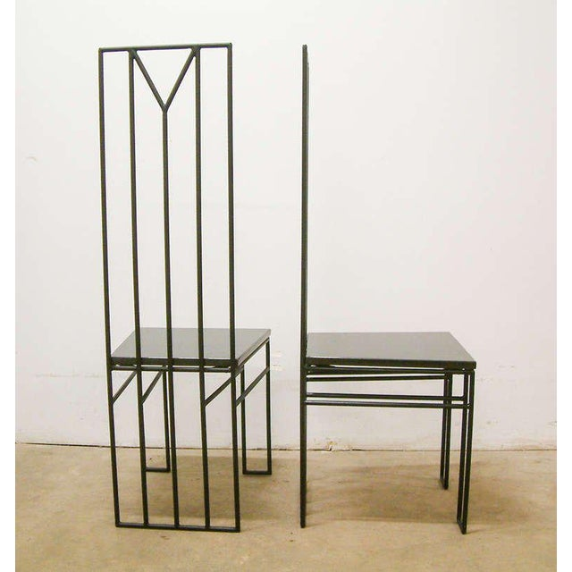 "1988 Maurice Beane Contemporary ""Retromac"" Chairs - A Pair For Sale In Richmond - Image 6 of 11"