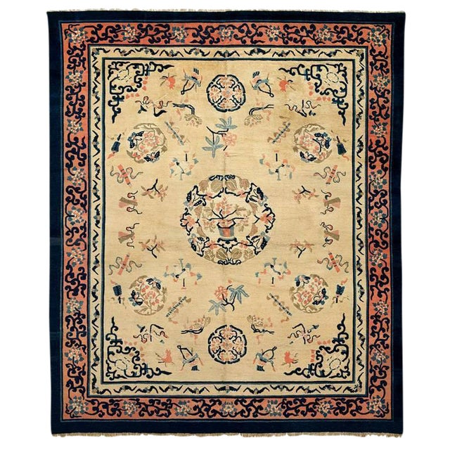 Late 19th Century Peking Carpet For Sale