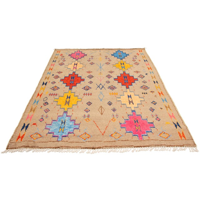 This Is an Pakistani Handmade, Hand-Knotted Medium Pile Rug. Spot Clean Only. Handmade items are typically perfectly...