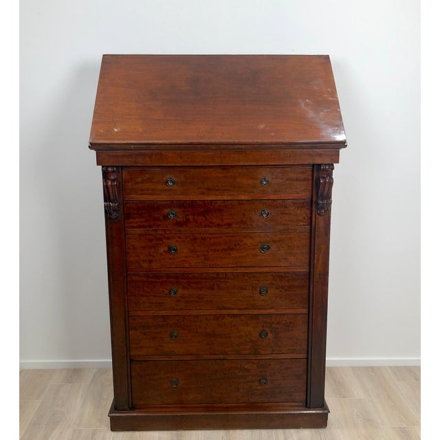 Wellington Secretary Chest of Drawers, England Circa 1840 For Sale - Image 9 of 11