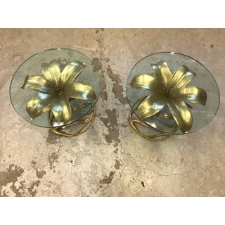 Arthur Court Metal Lily Side Tables-a Pair Preview