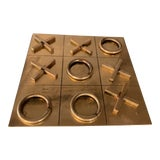 Image of 1970s Vintage Brass Tic Tac Toe Game For Sale