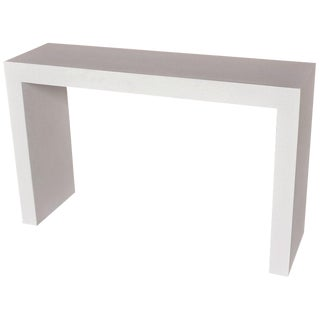 Cast Resin 'Lynne Tell' Console Table, White Stone Finish by Zachary A. Design For Sale