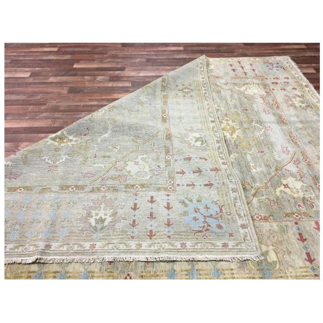 """Textile Peshawar Hand Knotted Oriental Area Rug - 7'7""""x10' For Sale - Image 7 of 10"""