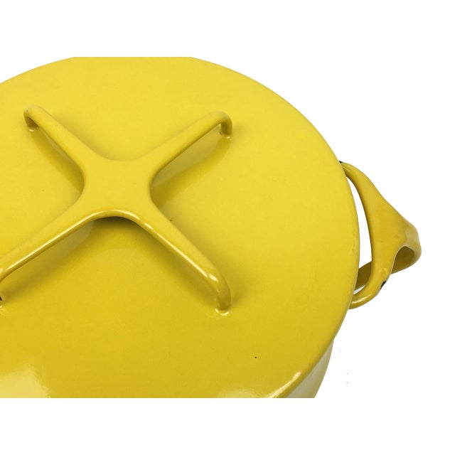 Vintage Modern Kobenstyle Dansk Yellow Enamel Pot - Image 4 of 5