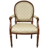Image of French Upholstered Bergere For Sale