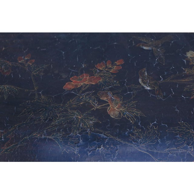 Antique Chinese Black Lacquer Table For Sale - Image 10 of 11