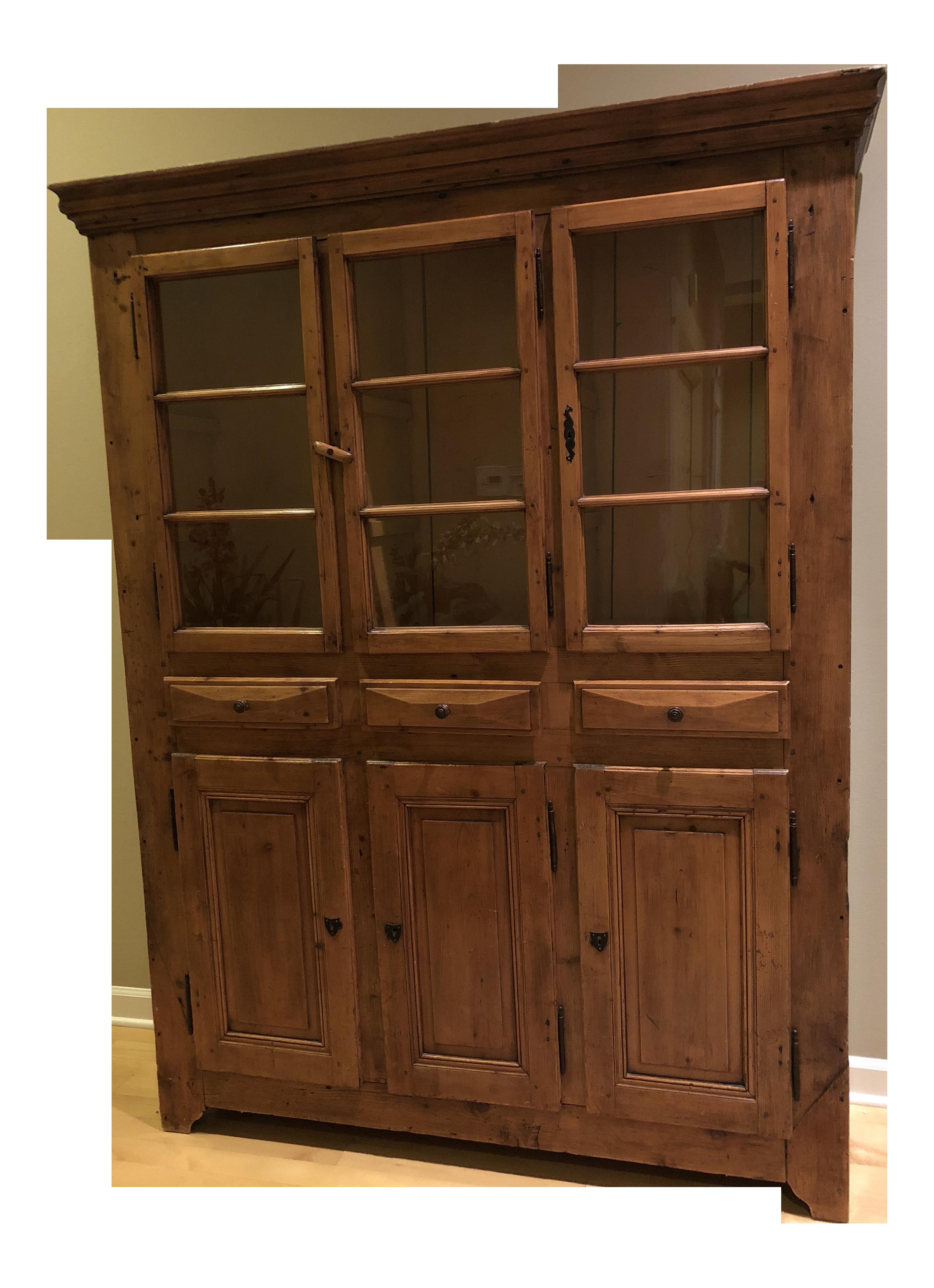 Vintage Camard Dimer French Display Hutch Cabinet