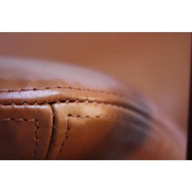 Fredrik Kayser Loveseat in Leather and Teak - Image 6 of 11