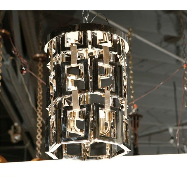 Paul Marra Link Fixture in Polished Nickel & Brass - Image 2 of 6